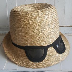 Kate Spade Dunes Line Staw Cat Eye Sun Hat